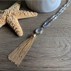 NWT LOFT beaded tassel necklace 🌱